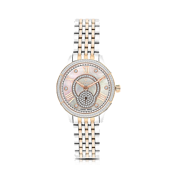 Stainless Steel 316L Watch, Rhodium And Rose Plated, MOP Dial ,For Women